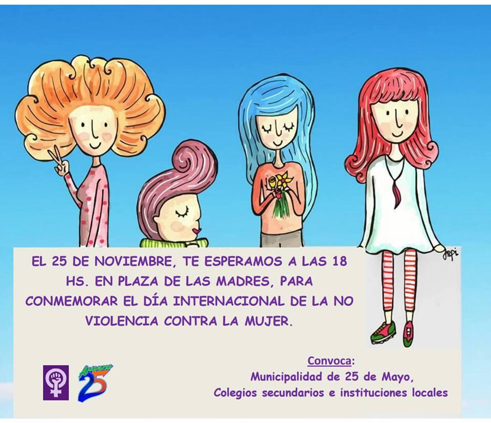 23795661 1960975237561683 3045275061058894920 n - Actividades por el Día Internacional contra la violencia de Género